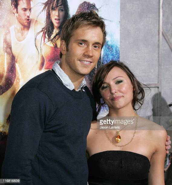 Actor Robert Hoffman and actress Briana Evigan attend Step Up 2 The Streets World Premiere at ArcLight Cinemas on February 4 2008 in Hollywood...