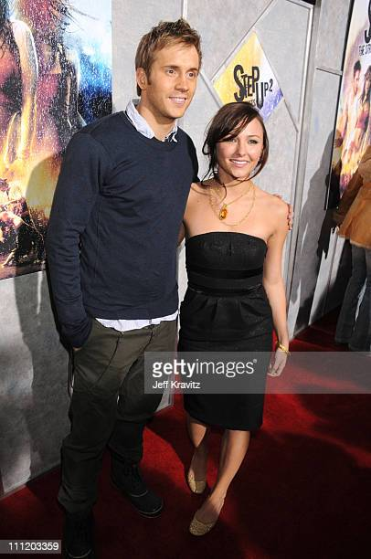 Actor Robert Hoffman and actress Briana Evigan attend Touchstone Pictures' and Summit Entertainment's world premiere of Step Up 2 The Streets at the...