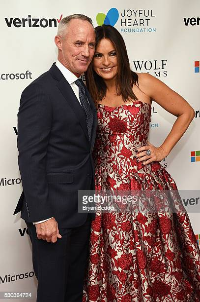 Actor Robert John Burke and actress and Joyful Heart Foundation Founder and President Mariska Hargitay attend The Joyful Revolution Gala hosted by...