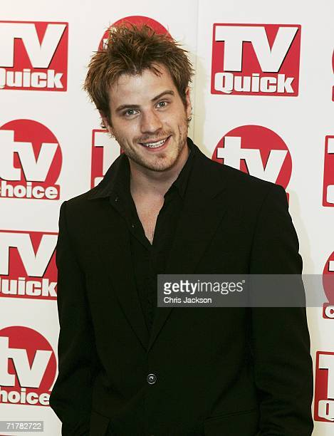 Actor Robert Kazinsky of Eastenders arrives at the TV Quick and TV Choice Awards at the Dorchester Hotel Park Lane on September 4 2006 in London...