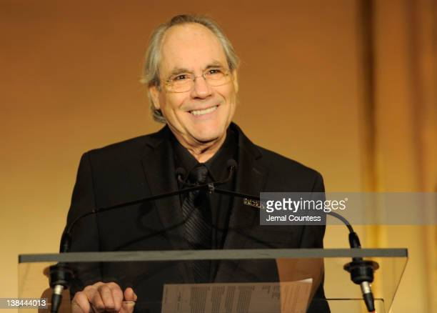 Actor Robert Klein speaks at the AFTRA Foundation's 2012 AFTRA Media and Entertainment Excellence Awards in the Grand Ballroom at The Plaza Hotel on...