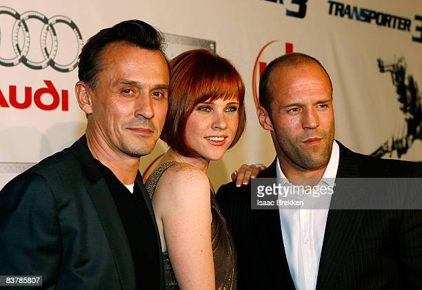 Actor Robert Knepper actress Natalya Rudakova and actor Jason Statham attend Planet Hollywood Resort Casino's Transporter 3 premiere on November 21...