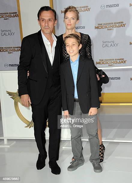 Actor Robert Knepper and family arrive for the Premiere Of Lionsgate's 'The Hunger Games Mockingjay Part 1' Arrivals held at Nokia Theatre LA Live on...