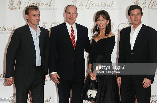 Actor Robert Knepper Prince Albert II of Monaco actors Lesley Anne Down and Eric Close attend the opening night of the 2007 Monte Carlo Television...