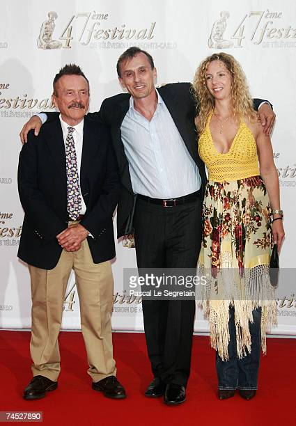 Actor Robert Knepper with his father and an unidentified guest attend the opening night of the 2007 Monte Carlo Television Festival held at Grimaldi...