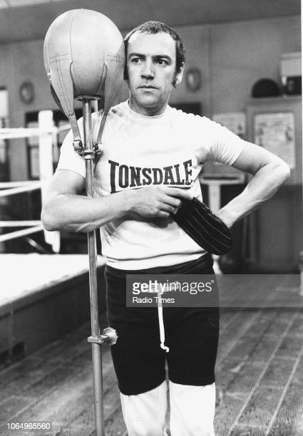 Actor Robert Lindsay in a boxing gym in a scene from episode 'Round One' of the television sitcom 'Seconds Out' September 20th 1980