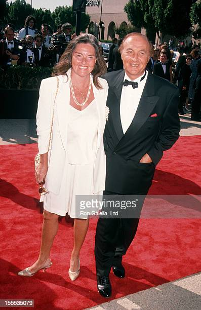 Actor Robert Loggia and wife Audrey O'Brien attend 42nd Annual Primetime Emmy Awards on September 16, 1990 at the Pasadena Civic Auditorium in...