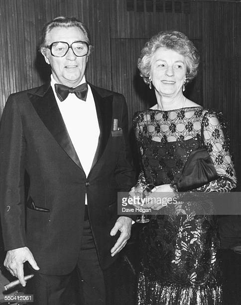 Actor Robert Mitchum and his wife Dorothy attending the TV Times Awards in London February 2nd 1984