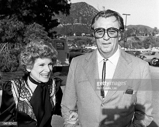 Actor Robert Mitchum and wife Dorothy Mitchum attend 30th Annual SHARE Boomtown Party on May 7 1983 at the Universal Ampitheater in Universal City...