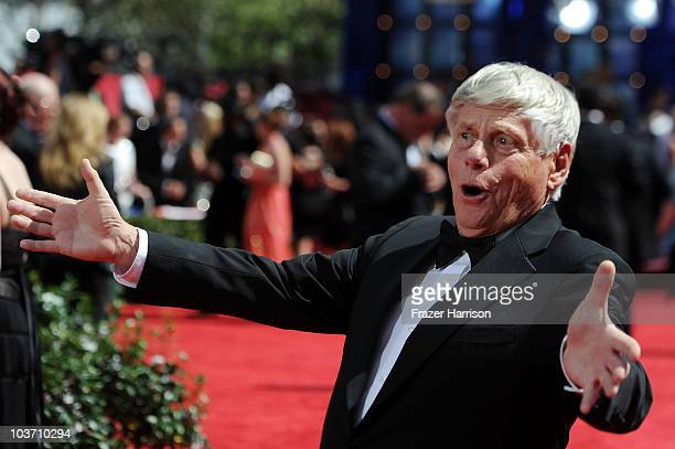 Actor Robert Morse arrives at the 62nd Annual Primetime Emmy Awards held at the Nokia Theatre LA Live on August 29 2010 in Los Angeles California