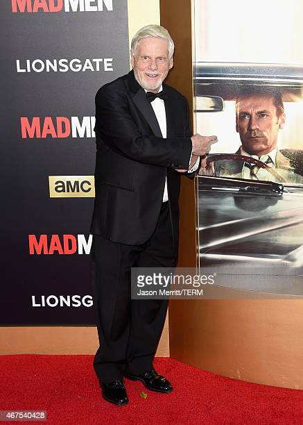 Actor Robert Morse attends the AMC celebration of the final 7 episodes of 'Mad Men' with the Black Red Ball at the Dorothy Chandler Pavilion on March...