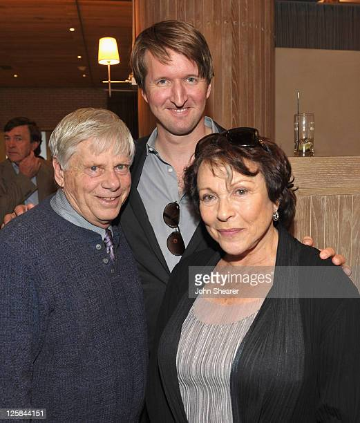 Actor Robert Morse director Tom Hooper and actress Claire Bloom attend the Kings Speech luncheon celebrating Colin Firth's Walk of Fame Star at...