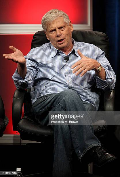 Actor Robert Morse of Mad Men speaks during day two of the AMC Channel 2008 Summer Television Critics Association Press Tour held at the Beverly...