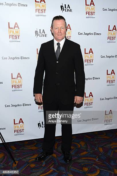"""Actor Robert Patrick attends the premiere of """"The Road Within"""" during the 2014 Los Angeles Film Festival at Regal Cinemas L.A. Live on June 18, 2014..."""