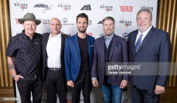 Actor Robert Patrick Francesco Cinquemani producer Andrea Iervolino actor John Travolta and director George Gallo attend Ambi Tatatu Gala Honouring...
