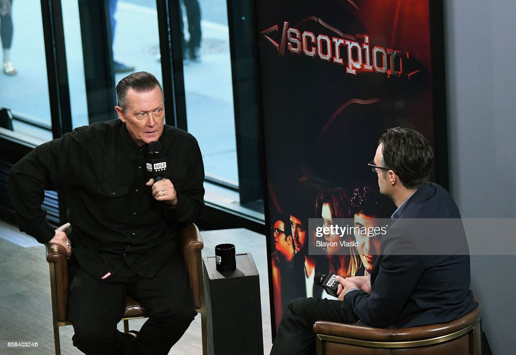 Actor Robert Patrick (L) visits Build to discuss 'Scorpion' & 'Lore' at Build Studio on October 6, 2017 in New York City.