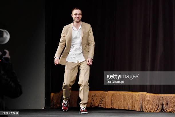 Actor Robert Pattinson accepts Maverick Award onstage at Trustees Theater during 20th Anniversary SCAD Savannah Film Festival on November 3, 2017 in...