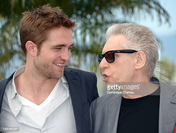 Actor Robert Pattinson and director David Cronenberg pose at the 'Cosmopolis' photocall during the 65th Annual Cannes Film Festival at Palais des...