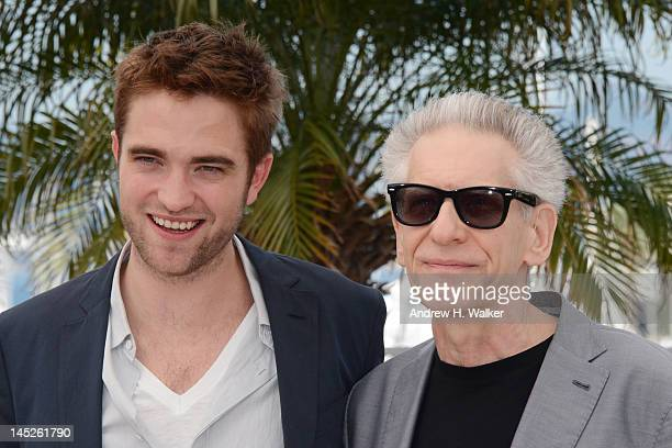 Actor Robert Pattinson and filmmaker director David Cronenberg pose at the 'Cosmopolis' photocall during the 65th Annual Cannes Film Festival at...