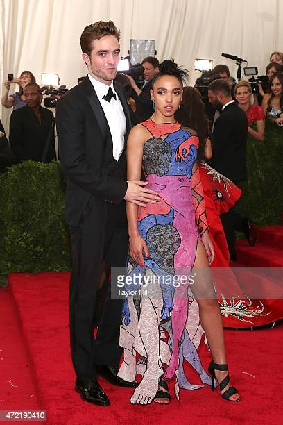 """Actor Robert Pattinson and FKA Twigs attend """"China: Through the Looking Glass"""", the 2015 Costume Institute Gala, at Metropolitan Museum of Art on May..."""