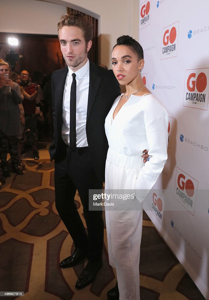 Actor Robert Pattinson (L) and FKA twigs attend the 8th Annual GO Campaign Gala at Montage Beverly Hills on November 12, 2015 in Beverly Hills, California.