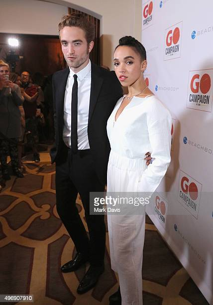 Actor Robert Pattinson and FKA twigs attend the 8th Annual GO Campaign Gala at Montage Beverly Hills on November 12 2015 in Beverly Hills California