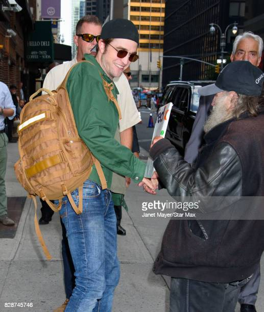 Actor Robert Pattinson and Radio Man are seen on August 9 2017 in New York City