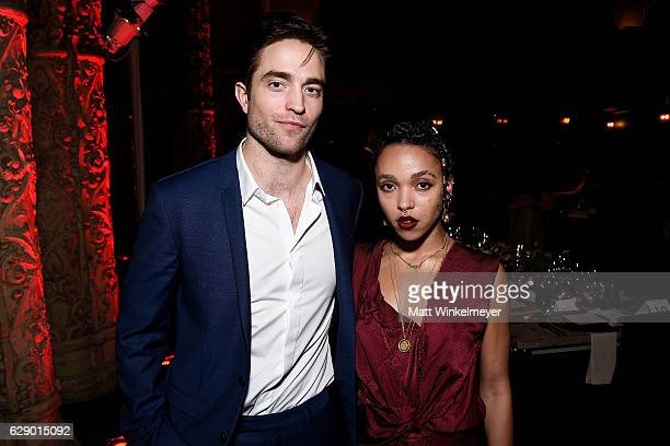 Actor Robert Pattinson and singersongwriter FKA Twigs attend the LA Dance Annual Gala at The Theatre at Ace Hotel on December 10 2016 in Los Angeles...