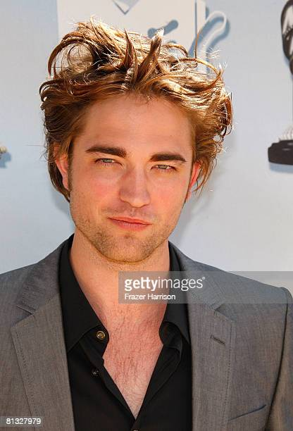 Actor Robert Pattinson arrives at the 17th annual MTV Movie Awards held at the Gibson Amphitheatre on June 1 2008 in Universal City California