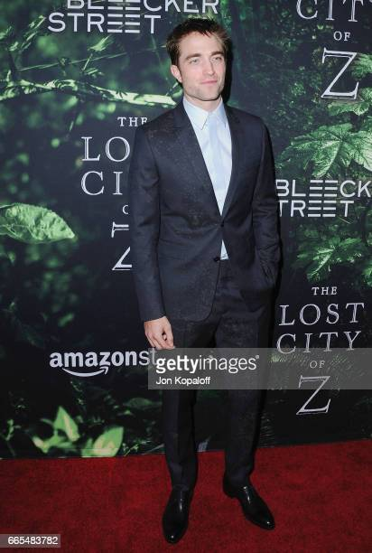 Actor Robert Pattinson arrives at the Premiere Of Amazon Studios' 'The Lost City Of Z' at ArcLight Hollywood on April 5 2017 in Hollywood California