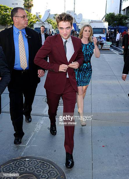 Actor Robert Pattinson arrives at the premiere of Summit Entertainment's The Twilight Saga Eclipse during the 2010 Los Angeles Film Festival at Nokia...