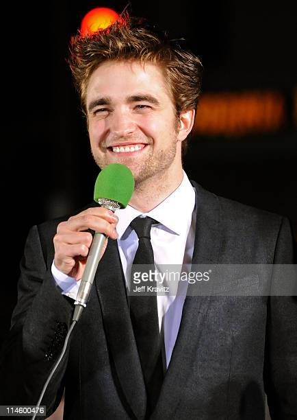 Actor Robert Pattinson arrives at The Twilight Saga New Moon premiere held at the Mann Village Theatre on November 16 2009 in Westwood California