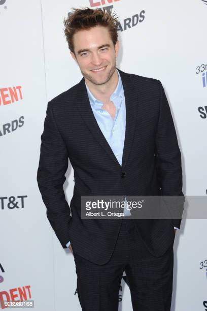Actor Robert Pattinson arrives for the 2018 Film Independent Spirit Awards on March 3 2018 in Santa Monica California