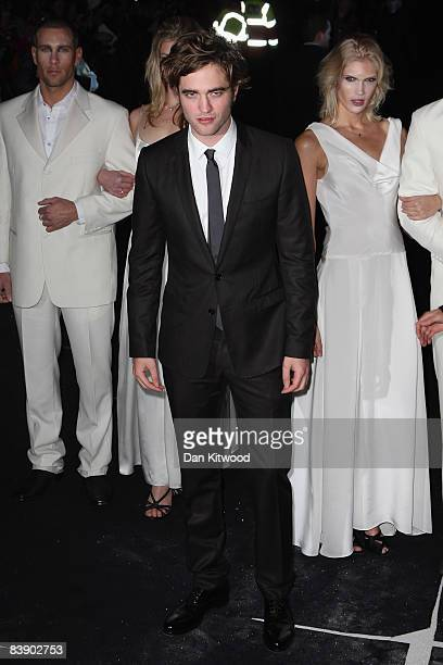 Actor Robert Pattinson arrives to the UK film premiere of 'Twilight' at the Vue Cinema West End on December 3 2008 in London England