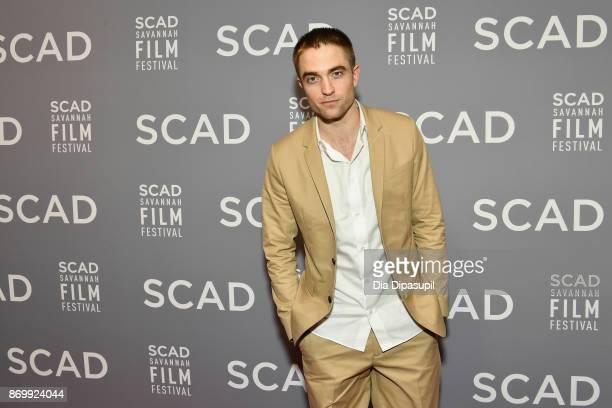 Actor Robert Pattinson at Trustees Theater during 20th Anniversary SCAD Savannah Film Festival on November 3, 2017 in Savannah, Georgia.