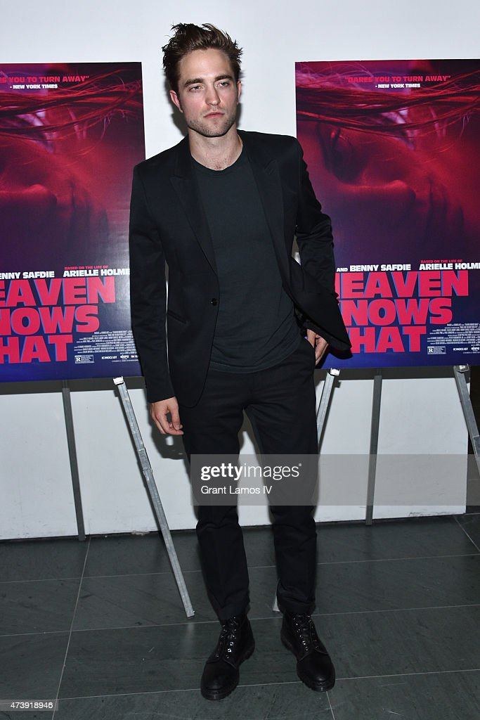 Actor Robert Pattinson attends 'Heaven Knows What' New York Premiere at the Celeste Bartos Theater at the Museum of Modern Art on May 18, 2015 in New York City.