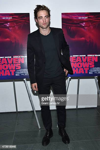 Actor Robert Pattinson attends 'Heaven Knows What' New York Premiere at the Celeste Bartos Theater at the Museum of Modern Art on May 18 2015 in New...