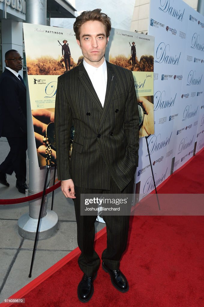 Actor Robert Pattinson attends Los Angeles Premiere of Magnolia's DAMSEL, sponsored by Casa Noble on June 13, 2018 in Los Angeles, California.