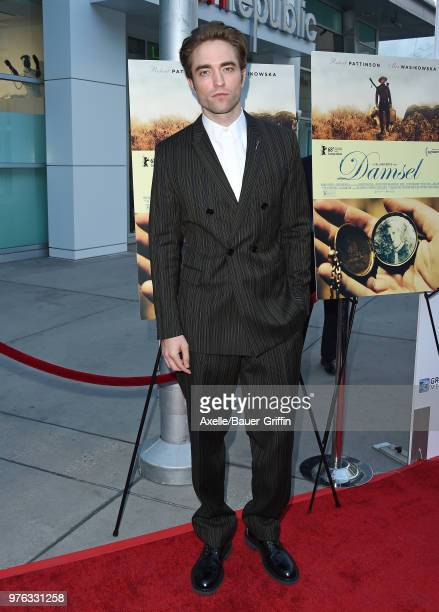 Actor Robert Pattinson attends Magnolia Pictures' 'Damsel' Premiere at ArcLight Hollywood on June 13, 2018 in Hollywood, California.