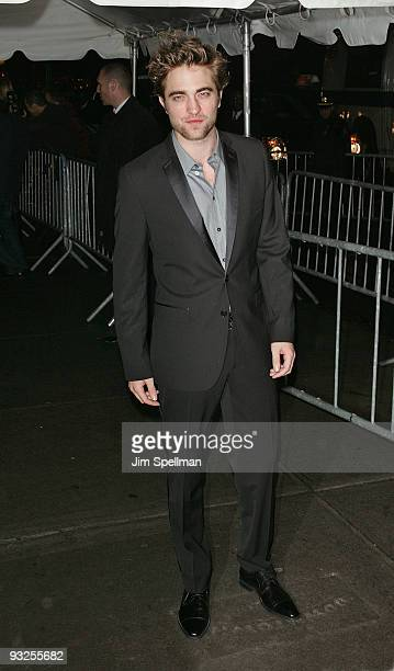 Actor Robert Pattinson attends The Cinema Society DG screening of The Twilight Saga New Moon at Landmark's Sunshine Cinema on November 19 2009 in New...