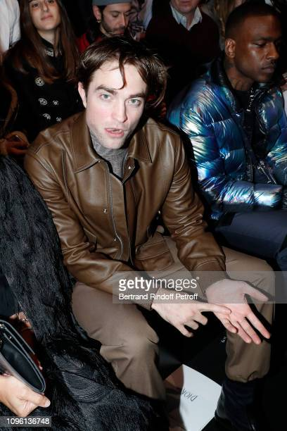 Actor Robert Pattinson attends the Dior Homme Menswear Fall/Winter 20192020 show as part of Paris Fashion Week on January 18 2019 in Paris France