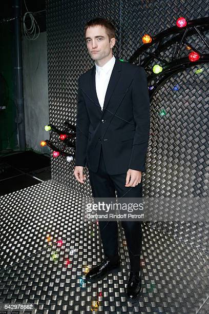 Actor Robert Pattinson attends the Dior Homme Menswear Spring/Summer 2017 show as part of Paris Fashion Week on June 25 2016 in Paris France