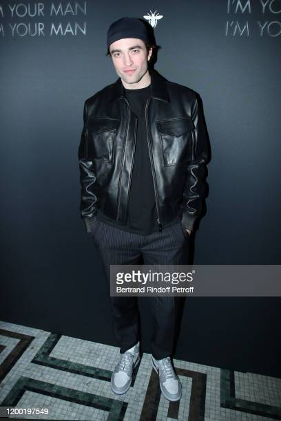 Actor Robert Pattinson attends the Dior Perfume Dinner as part of Paris Fashion Week at Caviar Kaspia on January 17 2020 in Paris France