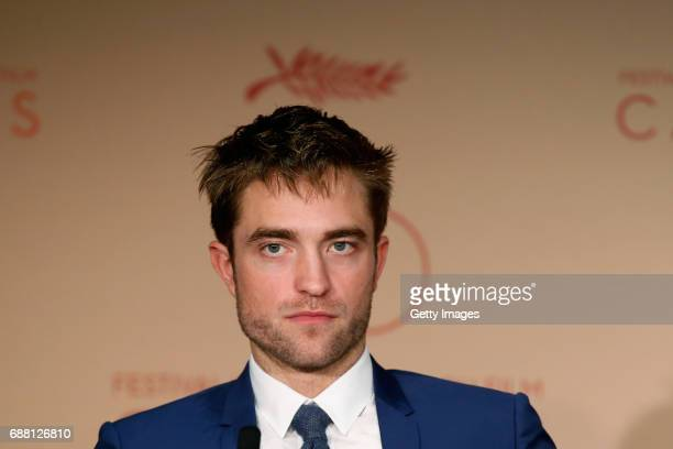 Actor Robert Pattinson attends the 'Good Time' press conference during the 70th annual Cannes Film Festival at Palais des Festivals on May 25 2017 in...