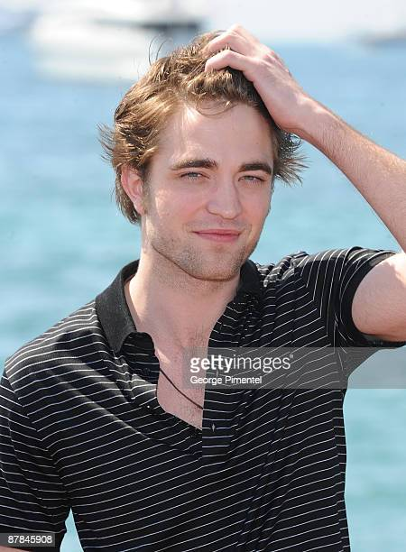Actor Robert Pattinson attends the 'New Moon' photo call at the Magestic Pier during the 62nd Annual Cannes Film Festival on May 19 2009 in Cannes...