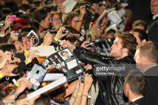 Actor Robert Pattinson attends 'Twilight Saga New Moon' Fans Event at Palacio de Vistalegre on November 12 2009 in Madrid Spain