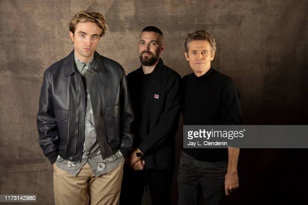 Actor Robert Pattinson director Robert Eggers and actor Willem Dafoe from 'The Lighthouse' are photographed for Los Angeles Times on September 7 2019...
