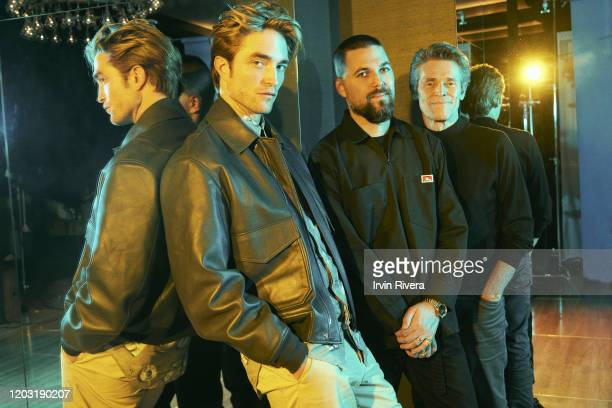 Actor Robert Pattinson director Robert Eggers and actor Willem Dafoe from 'The Lighthouse' are photographed for the Wrap Magazine on September 7 2019...