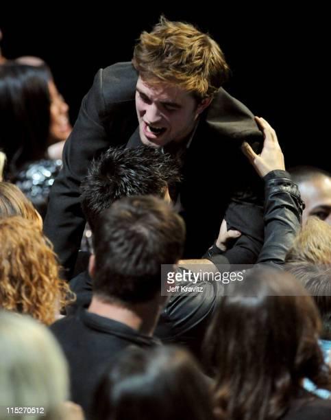 Actor Robert Pattinson during the 2011 MTV Movie Awards at Universal Studios' Gibson Amphitheatre on June 5 2011 in Universal City California