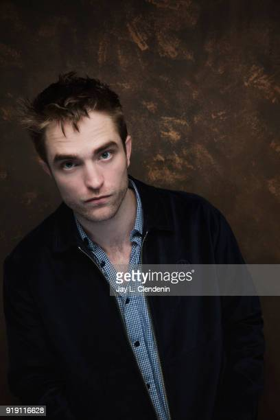 Actor Robert Pattinson from the film 'Damsel' is photographed for Los Angeles Times on January 22 2018 in the LA Times Studio at Chase Sapphire on...